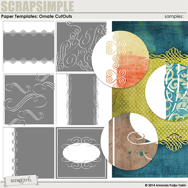 Cut Out Ornate Papers