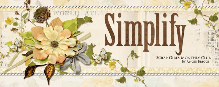Simplify - September 2016 Scrap Girls Club