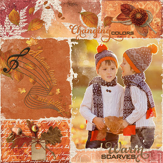 A layout using the October Scrap Girls Club