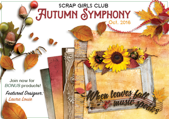 Scrap Girls Club - Autumn Symphony intro banner