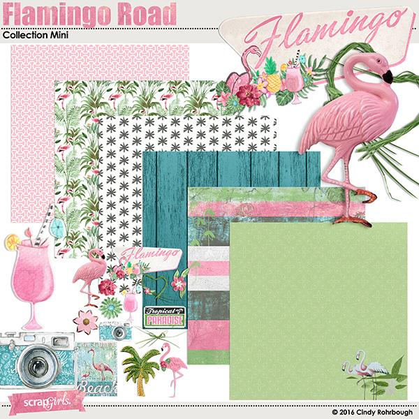Flamingo Road digital scrapbooking kit