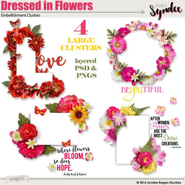 Dressed in Flowers digital frames