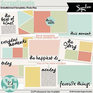 SS Embellishment Templates: Photo Play