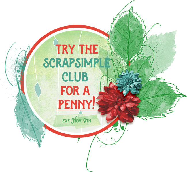 Try the Scrap Girls Club for 1 cent until November 9th