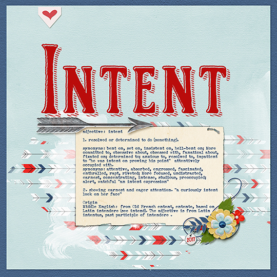 Intent - Example of a word of the year inspiration sign